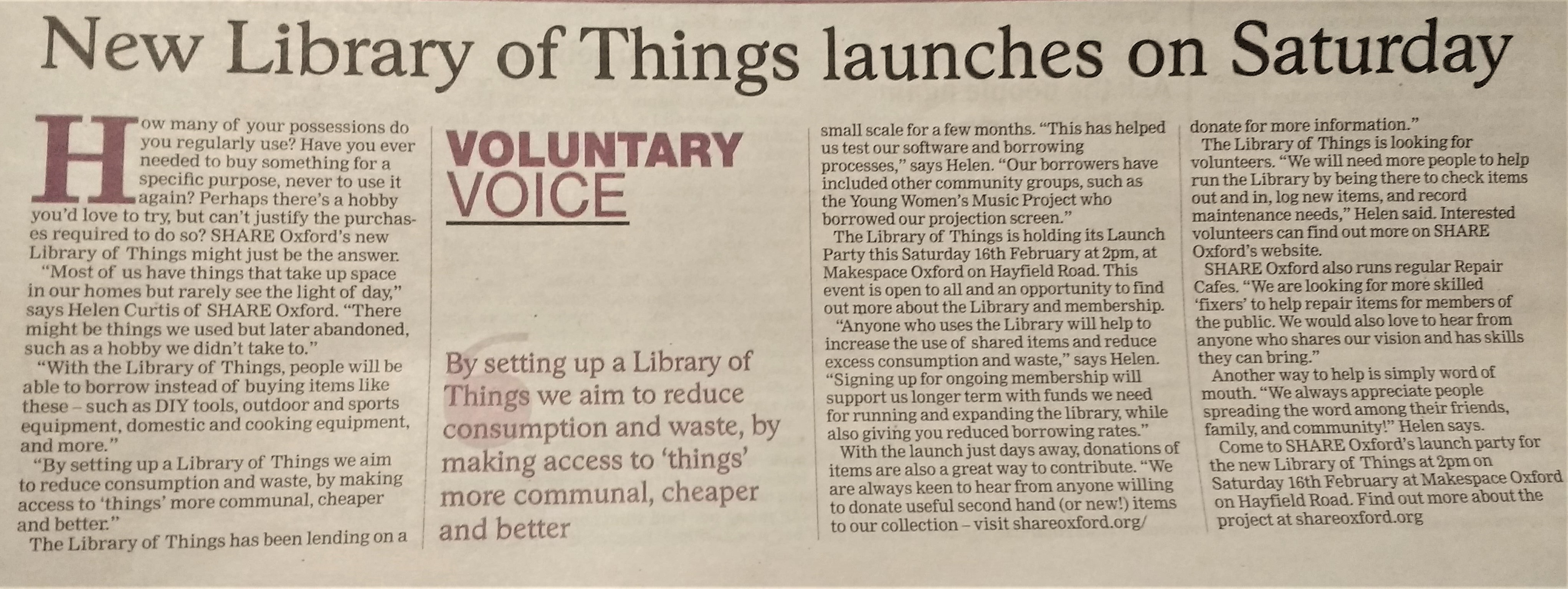 New Library of Things launches on Saturday